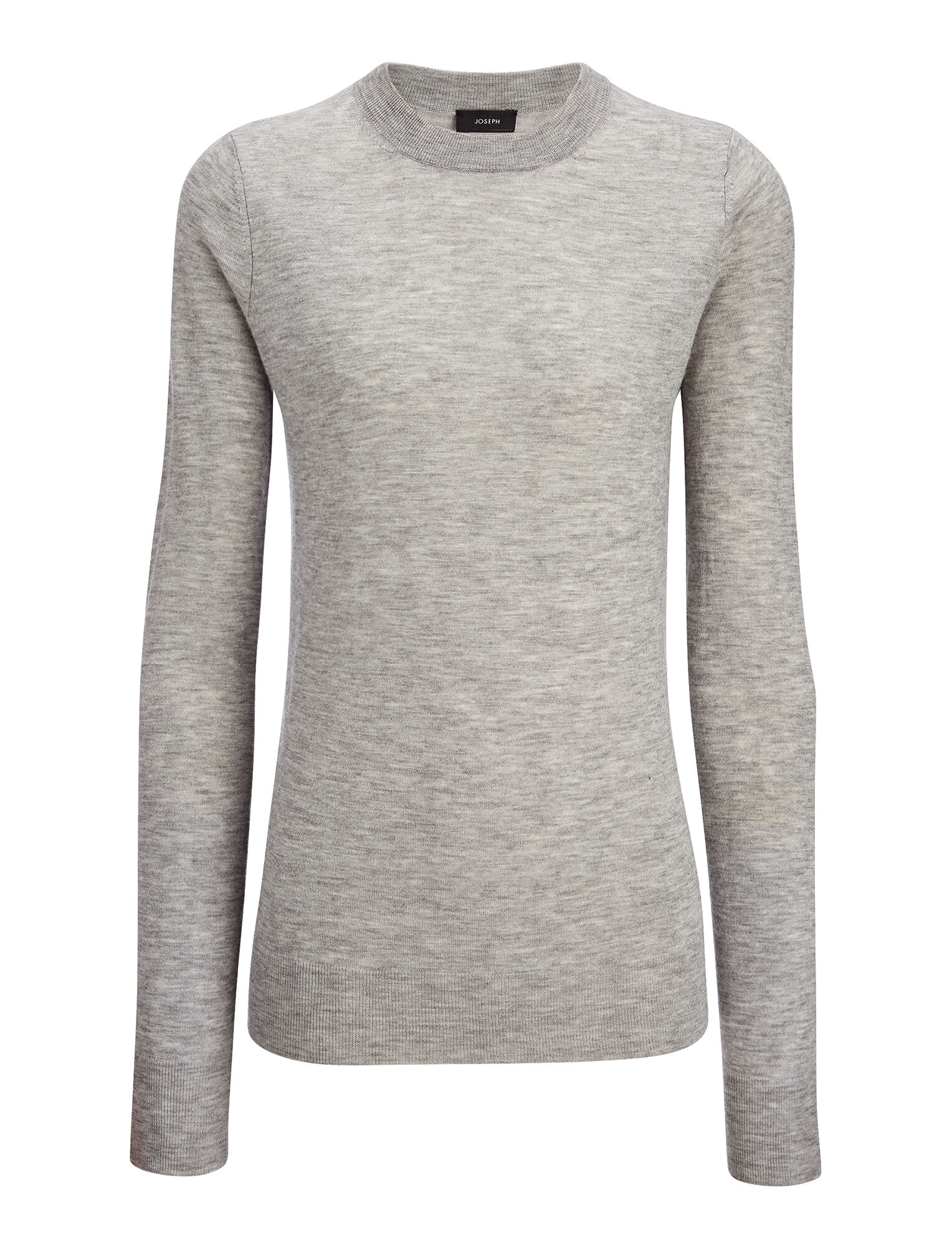 Fitted Cashair Sweater, in GREY CHINE, large | on Joseph