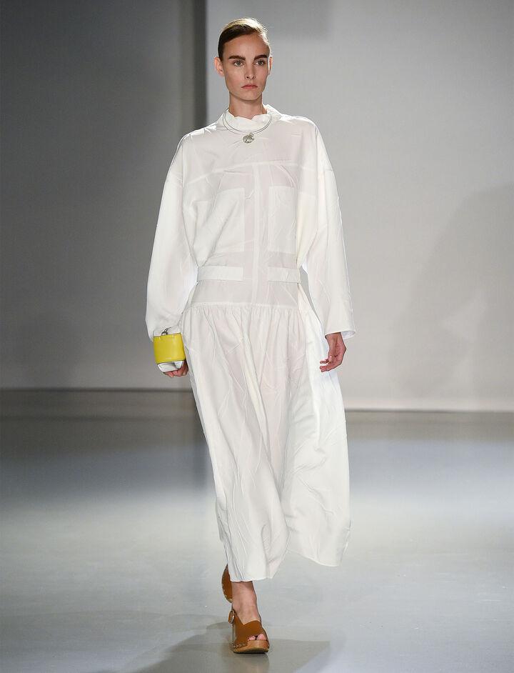 Joseph, Creased Viscose Camille Dress, in CREAM