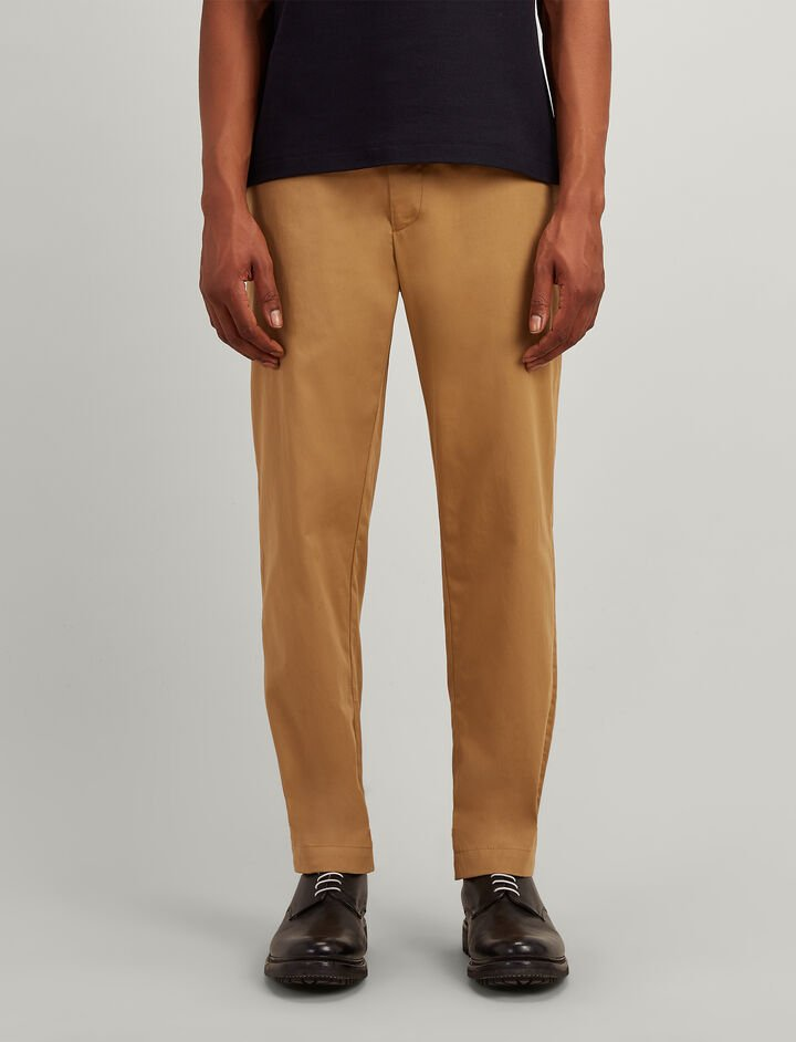 Twill Chino California Trousers, in CAMEL, large | on Joseph