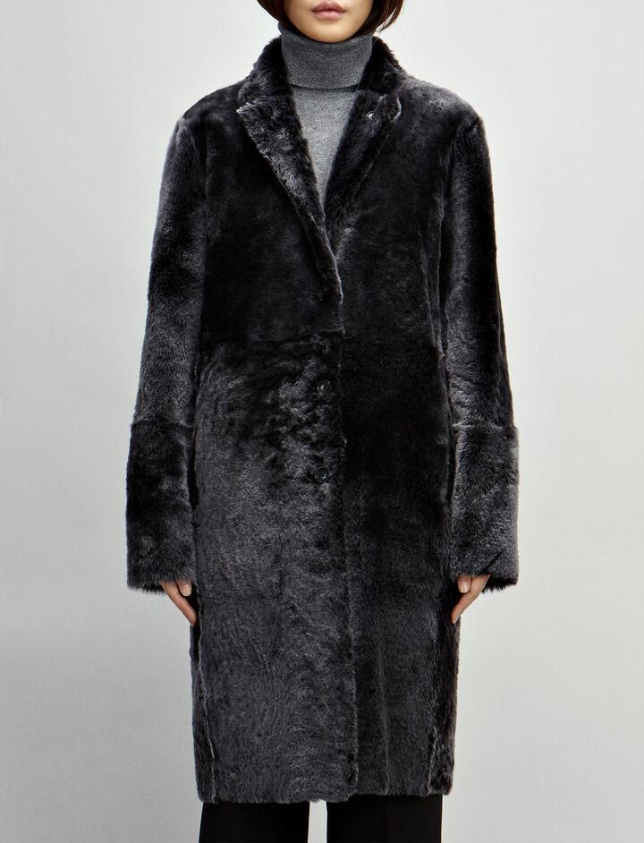 Polar Skin Brittany Sheepskin, in BLACK, large | on Joseph