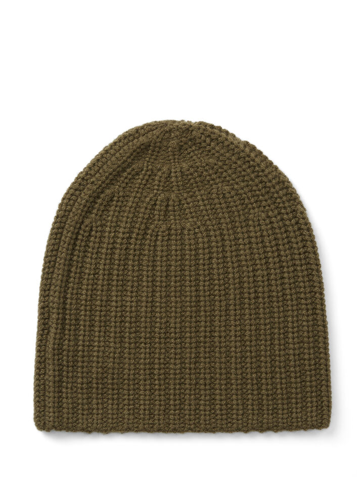 Cardigan Cashmere Hat, in ARMY, large | on Joseph