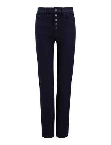 Gabardine Stretch Den Trousers, in NAVY, large | on Joseph