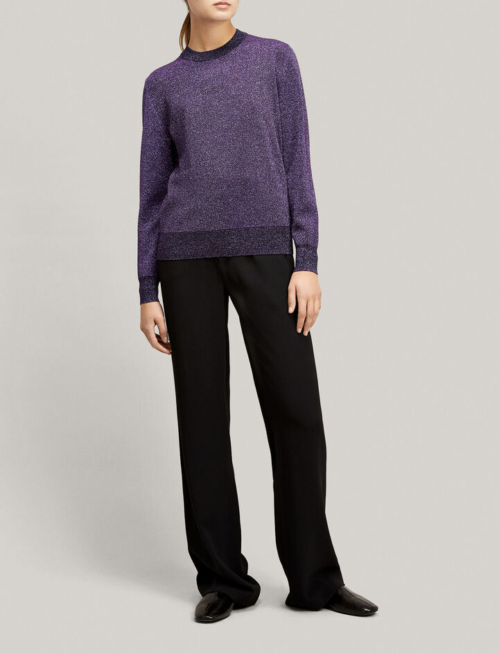 Joseph, Lurex Knit, in VIOLET