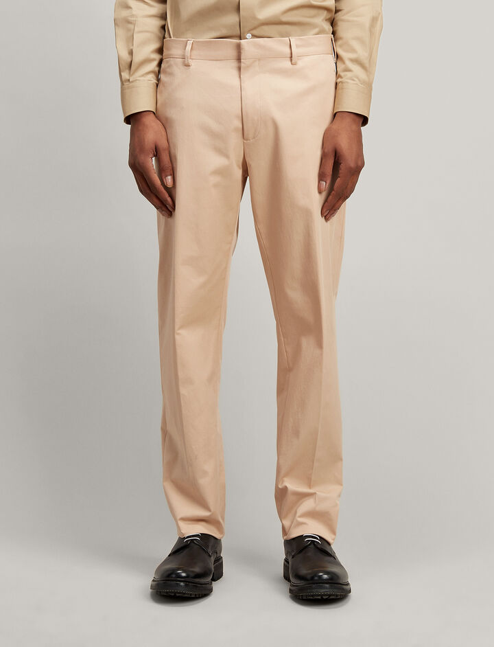 Polish Cotton Stretch Jack Trousers, in STUCCO, large | on Joseph