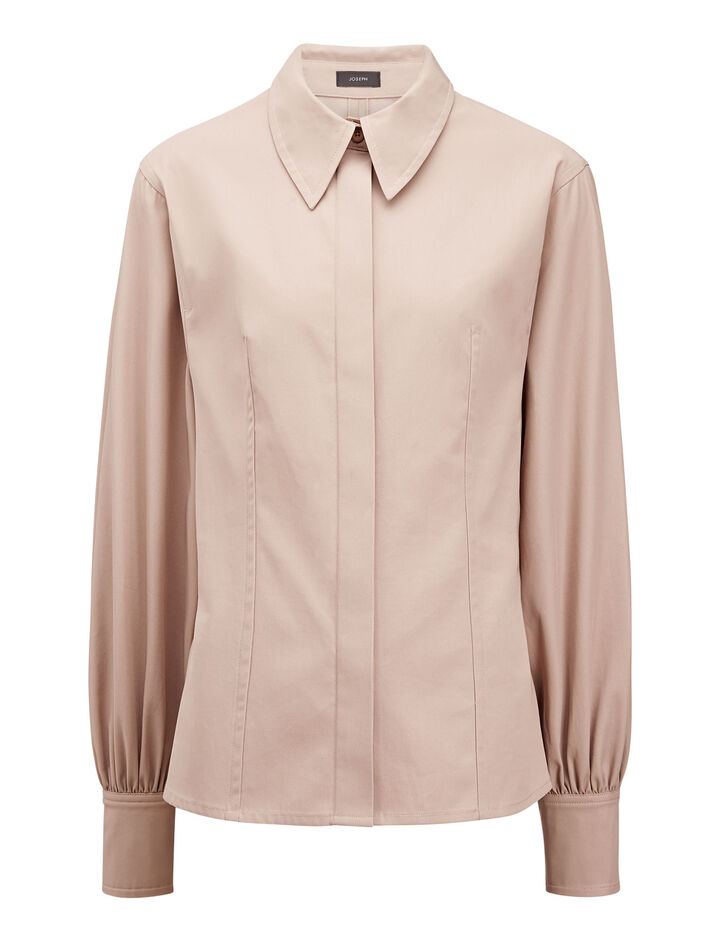 Joseph, Flora High Twist Shirting Blouse, in ROSE