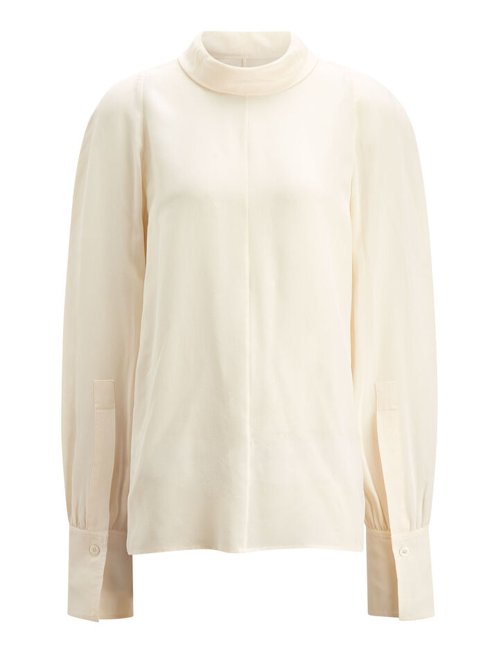 Joseph, Laurel Crepe de Chine Blouse, in ECRU