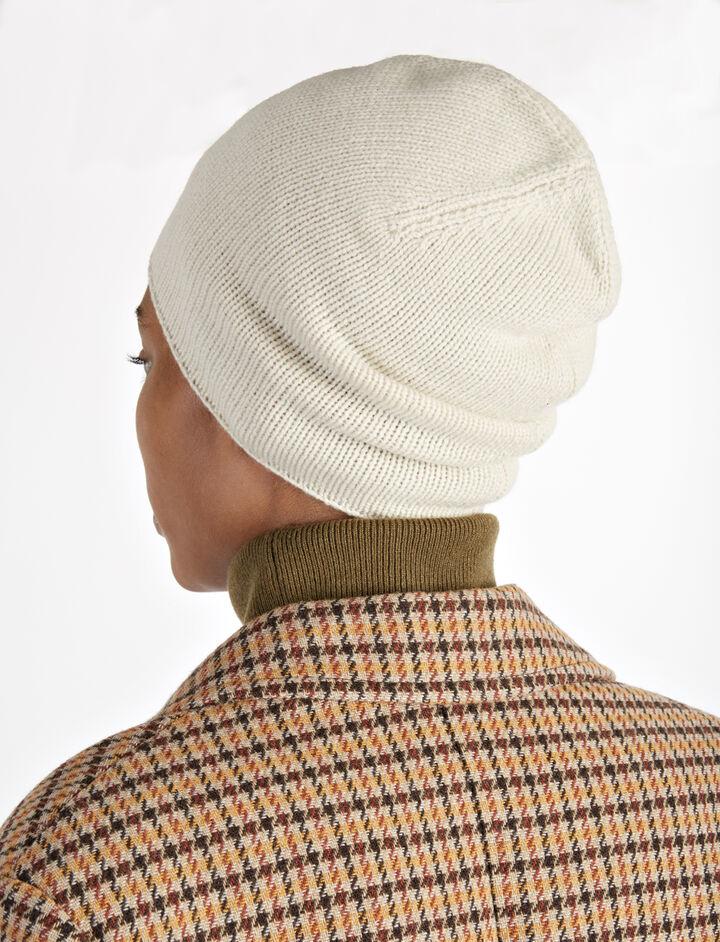 Mongolian Cashmere Hat, in ECRU, large | on Joseph