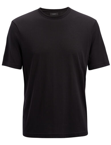 Lyocell Jersey  Tee, in Black, large | on Joseph