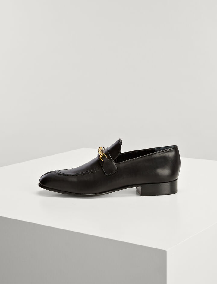 Joseph, Calf Leather Loafer, in BLACK