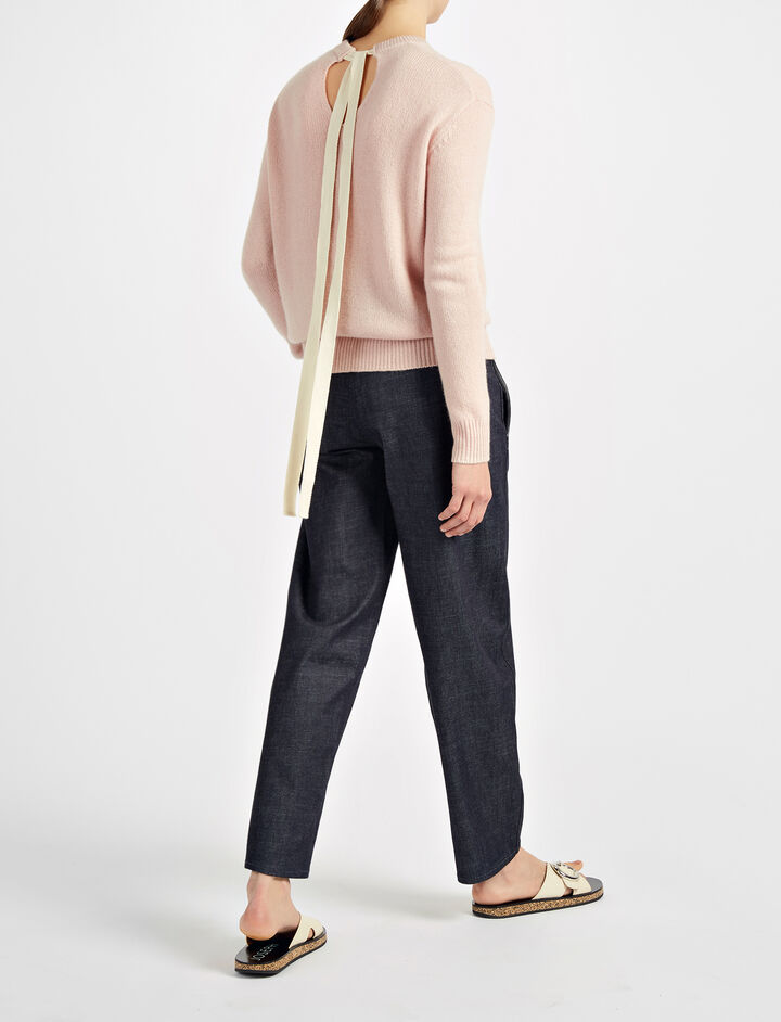 Open Cashmere Top, in PEARL, large | on Joseph