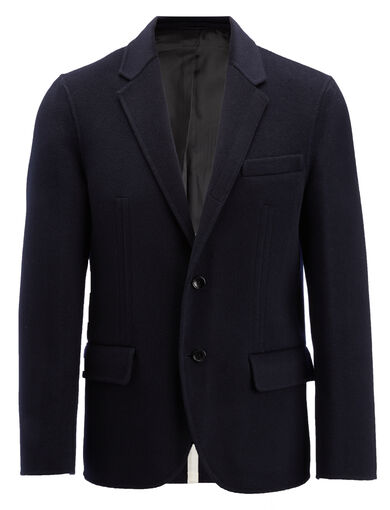 Double Face Cashmere Mells Jacket, in NAVY, large | on Joseph