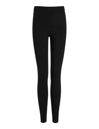 Fine Merinos Leggings, in BLACK, large | on Joseph