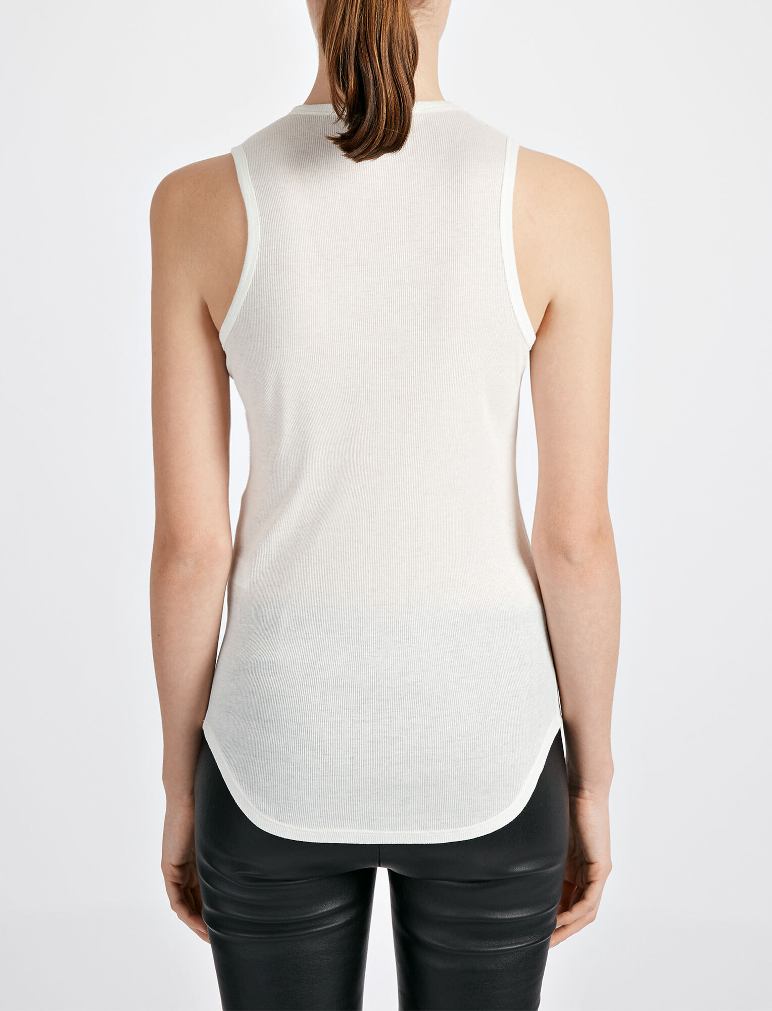 Joseph, Cotton Cashmere Rib Tank, in ECRU