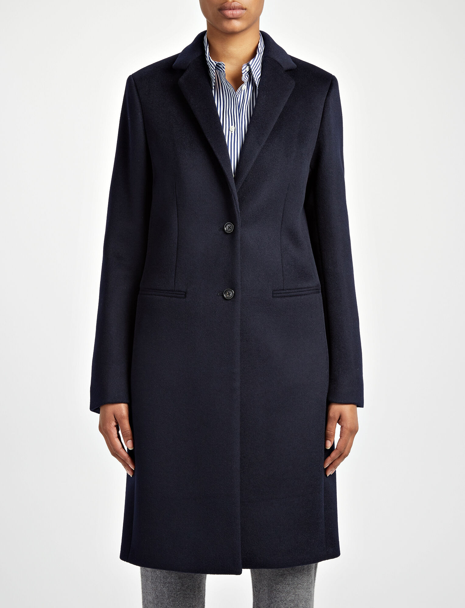 New Wool Martin Coat, in NAVY, large | on Joseph