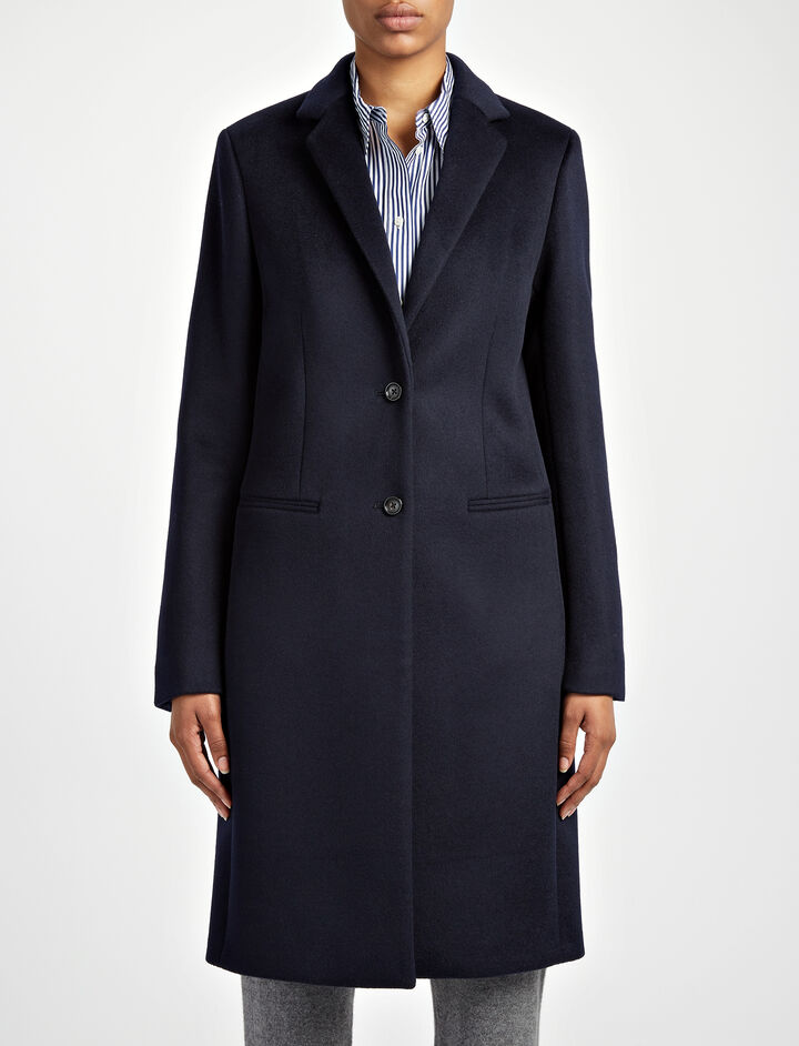 New Wool Martin Coat, in NAVY, large | on Joseph