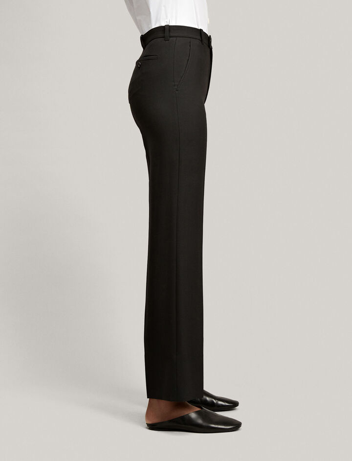Joseph, Comfort Wool Tropez Trousers, in BLACK