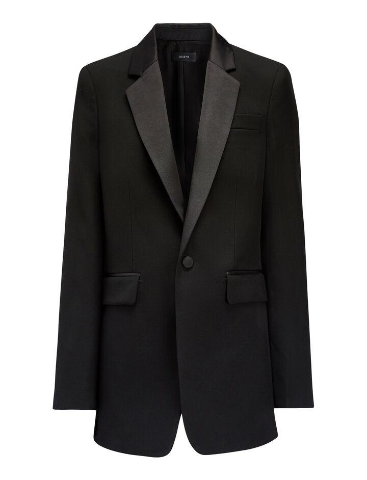 Grain de Poudre Jan Tuxedo Jacket, in BLACK, large   on Joseph