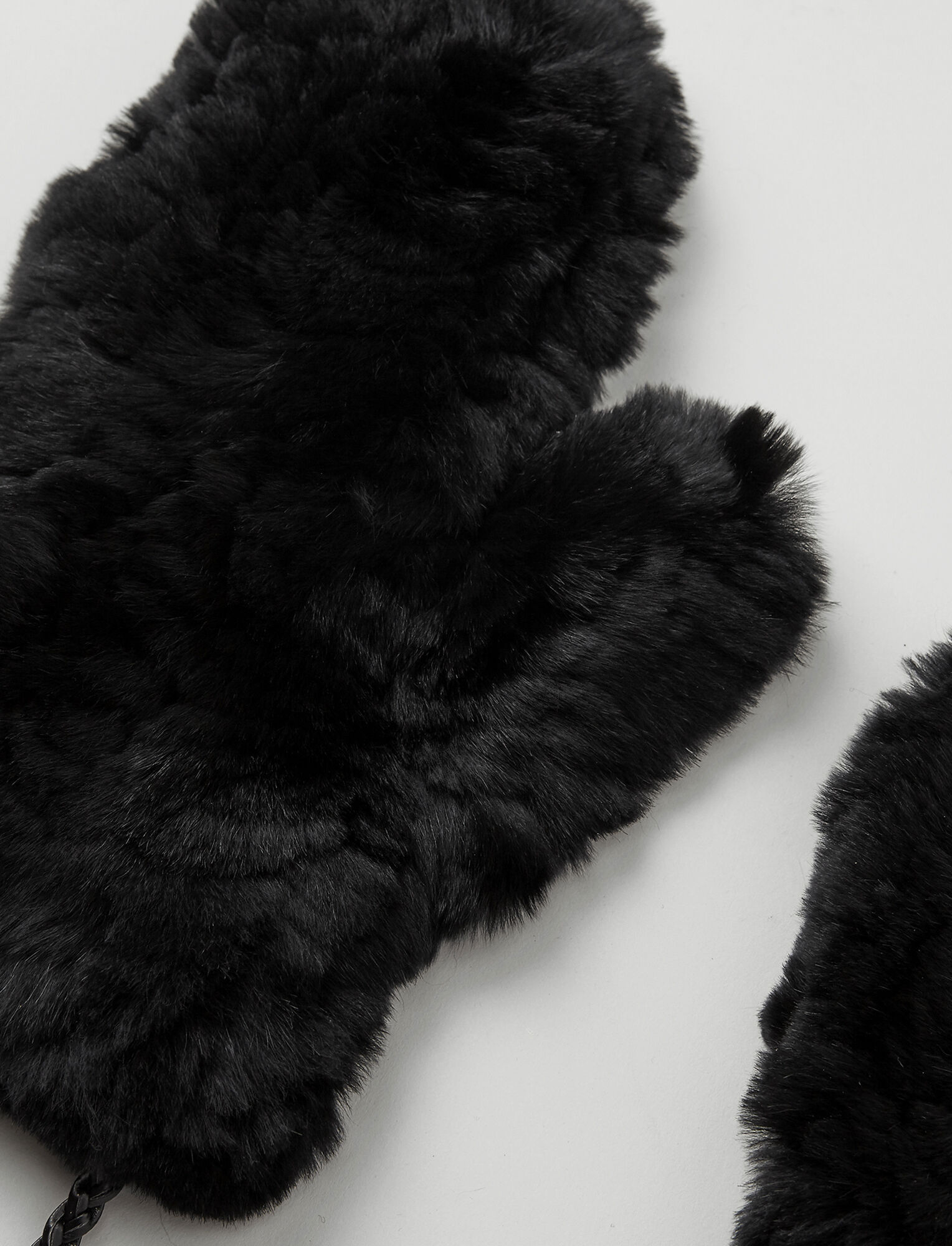 Rex Fur Gloves, in BLACK, large | on Joseph