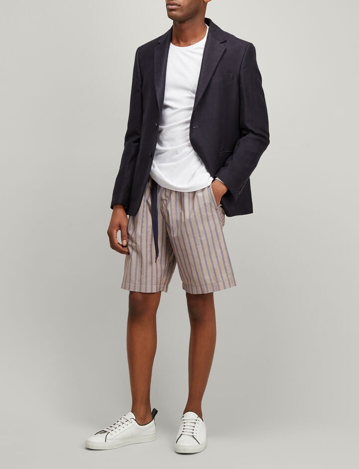 Joseph, Henley Stripe Luis Trousers, in TAWNY