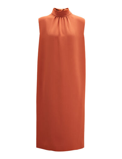Robe Bella en stretch flou, in RUST, large | on Joseph