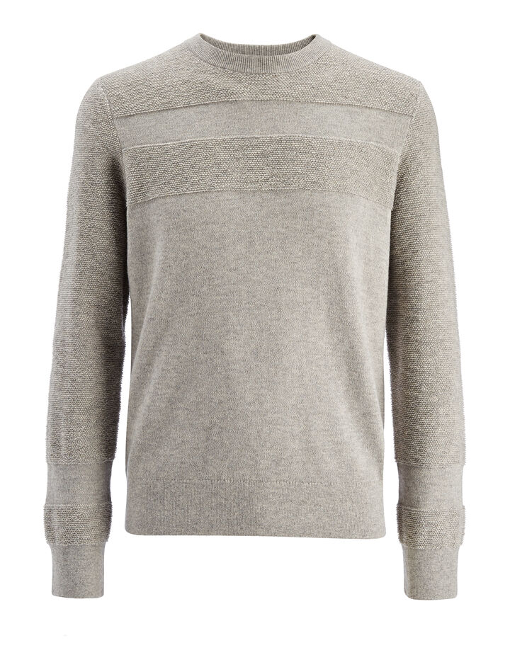 Loop Back Knit Sweater, in GREY CHINE, large | on Joseph