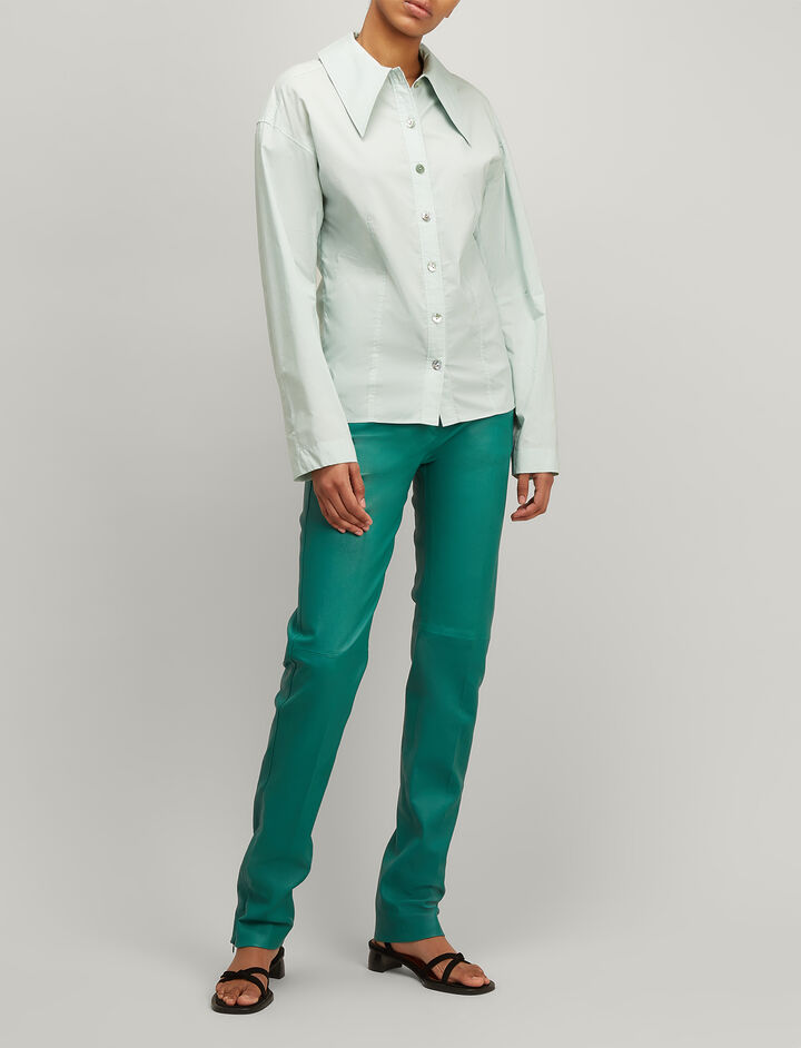 Joseph, Chintz Cotton Reuben Shirt, in CELADON