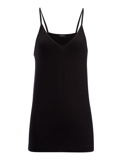 Camisole-Stretch Jersey, in BLACK, large | on Joseph