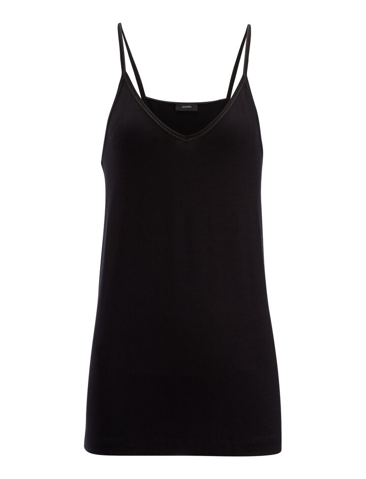 Joseph, Stretch Jersey Camisole, in BLACK
