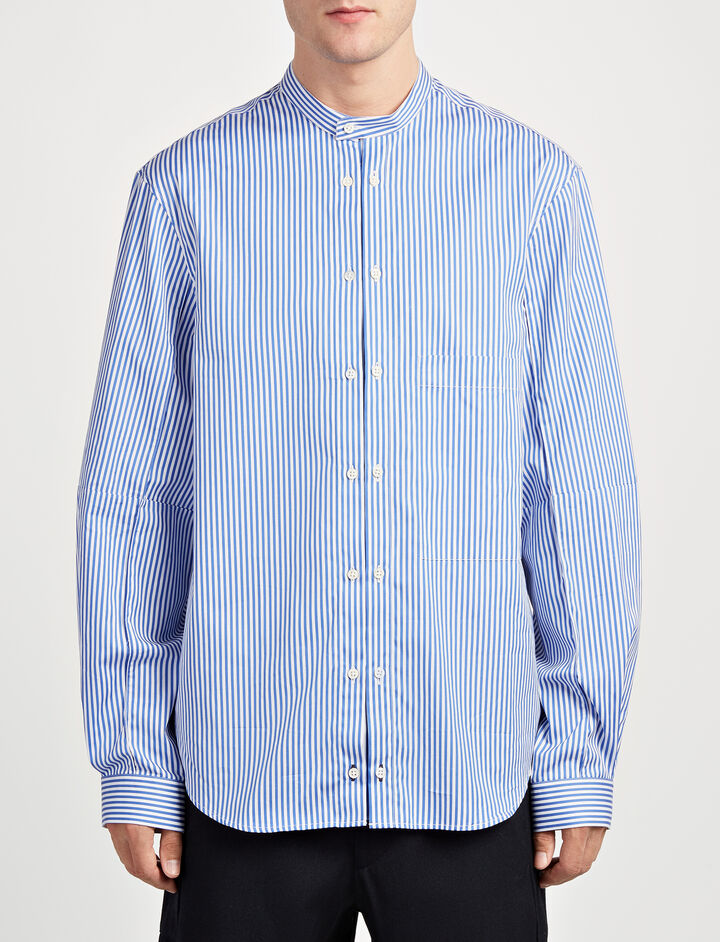Stripes Forever Winster Shirt, in BLUE/WHITE, large | on Joseph