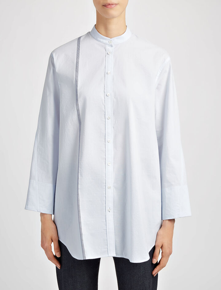 Chemise Blanche Lenno Blouse, in BLUE/NAVY, large | on Joseph