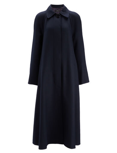 Uniform Twill Mercer Coat, in NAVY, large | on Joseph