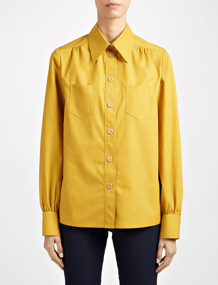 Royal Cotton Ard Blouse, in OCHRE, large | on Joseph
