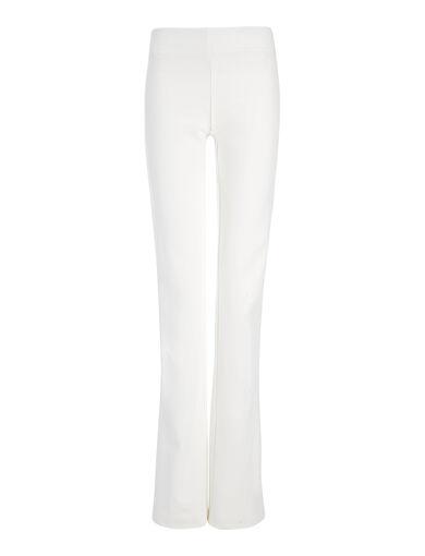 Gabardine Stretch Lex Trouser, in OFF WHITE, large | on Joseph