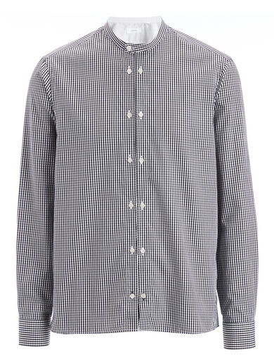 Gingham Dale Shirt, in BLACK/White, large | on Joseph
