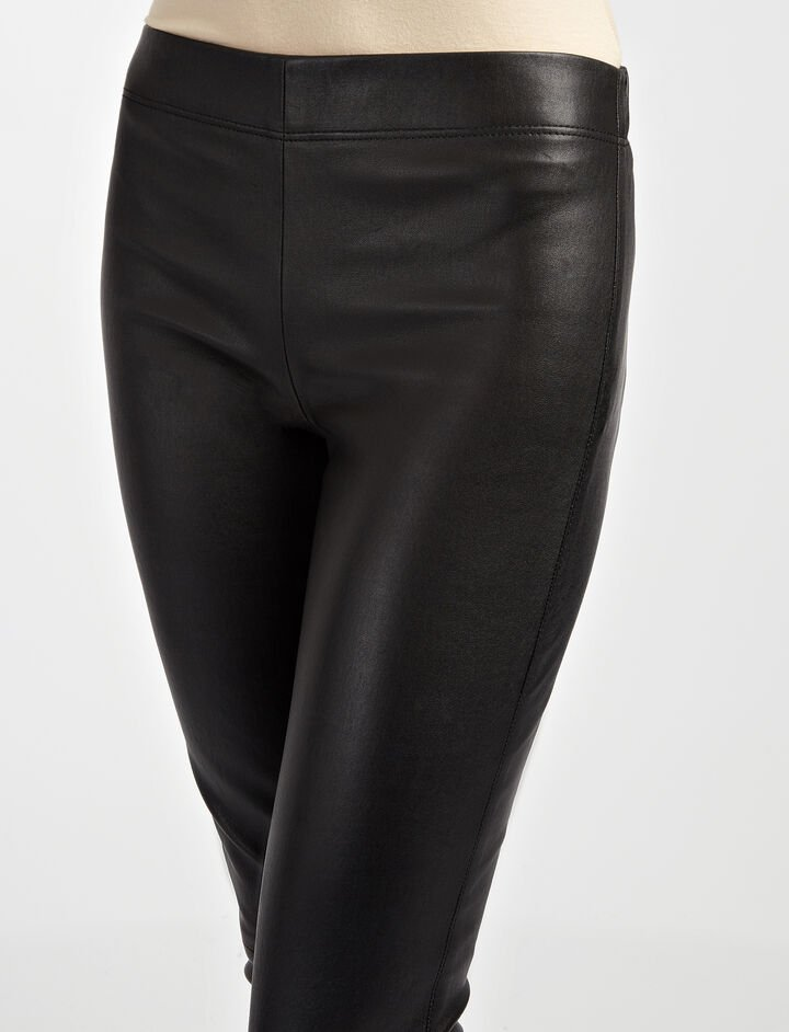 Leather Stretch Legging, in BLACK, large | on Joseph