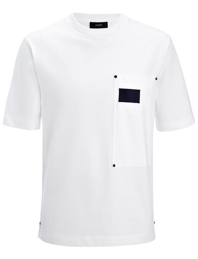 Heavy T-Shirting Tee, in WHITE, large | on Joseph