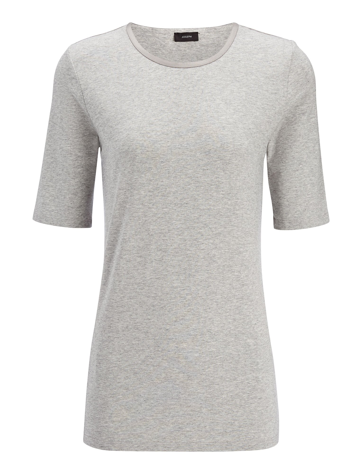 Haut en coton et lyocell stretch, in GREY CHINE, large | on Joseph