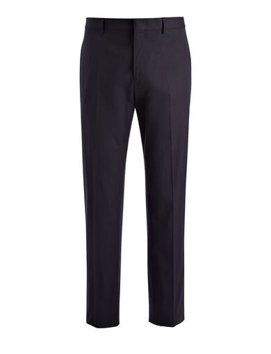 Pantalon Clive en laine techno stretch, in NAVY, large | on Joseph