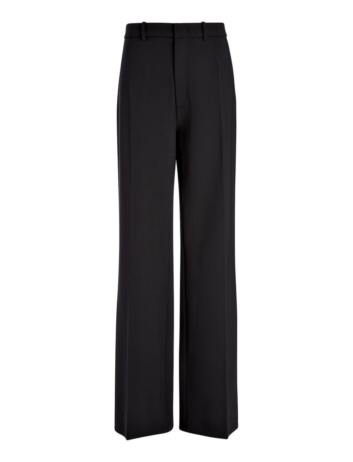 Pantalon Ferguson en laine stretch, in BLACK, large | on Joseph