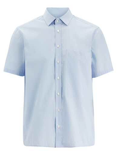 Parachute Poplin Deal Shirt, in SKY BLUE, large | on Joseph