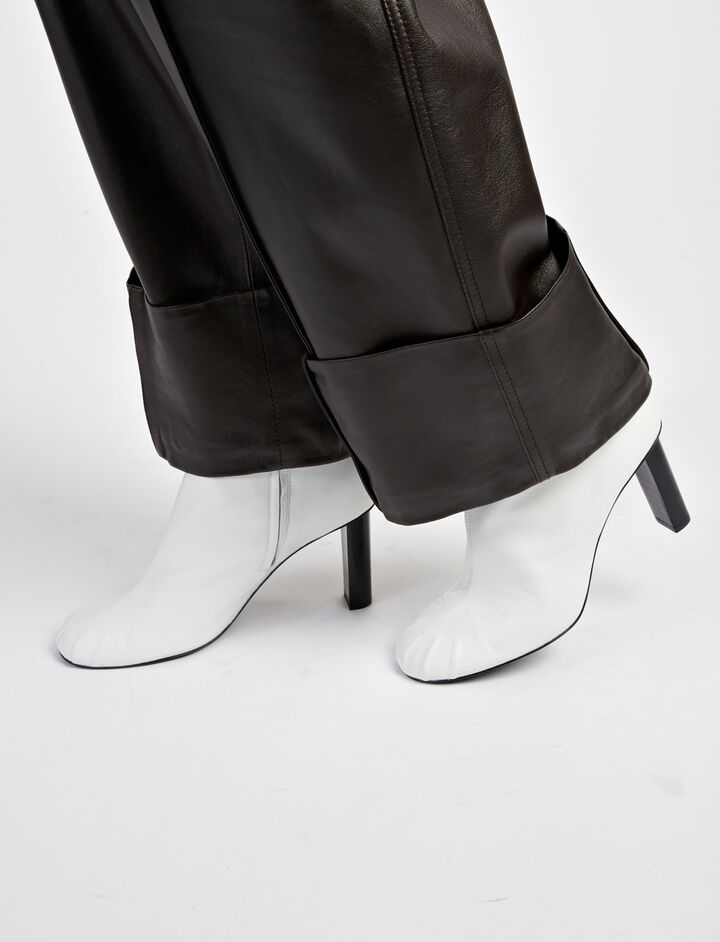 Nappa Leather Pigalle Boots, in WHITE, large | on Joseph