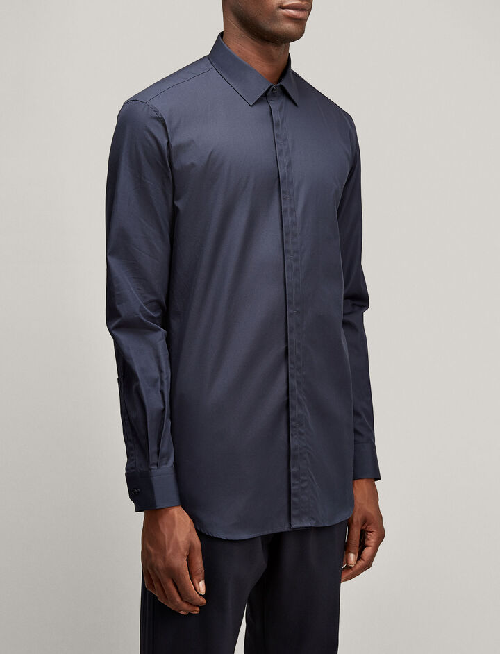 Joseph, Jean Pierre Poplin Shirt, in NAVY