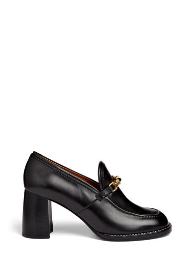 Calf Leather Velma Shoes, in BLACK, large | on Joseph