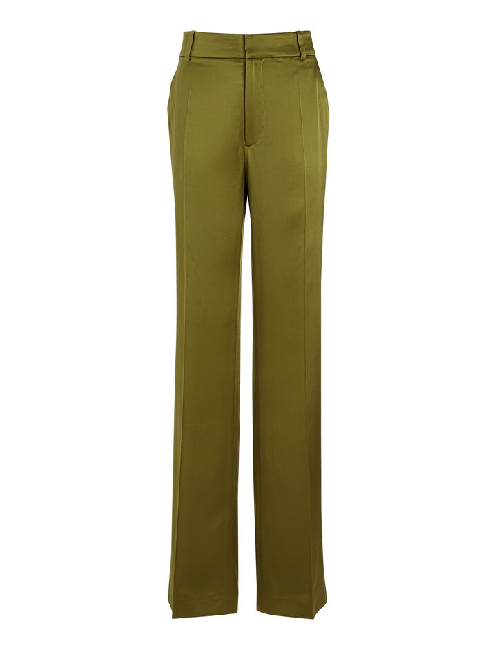 Joseph, Silk Satin Ferdy Trouser, in PEA