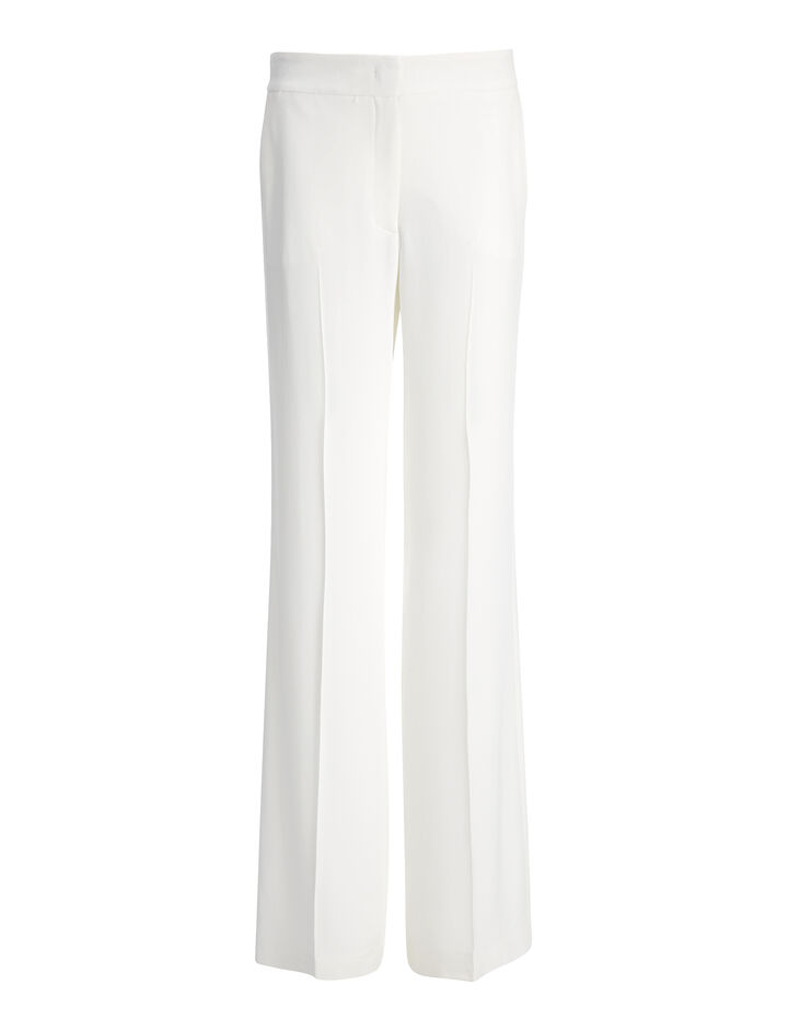 Pantalon New Jagger en viscose cady, in BONE, large | on Joseph