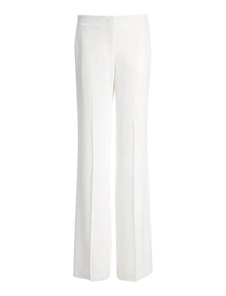 Viscose Cady New Jagger Trouser, in BONE, large | on Joseph