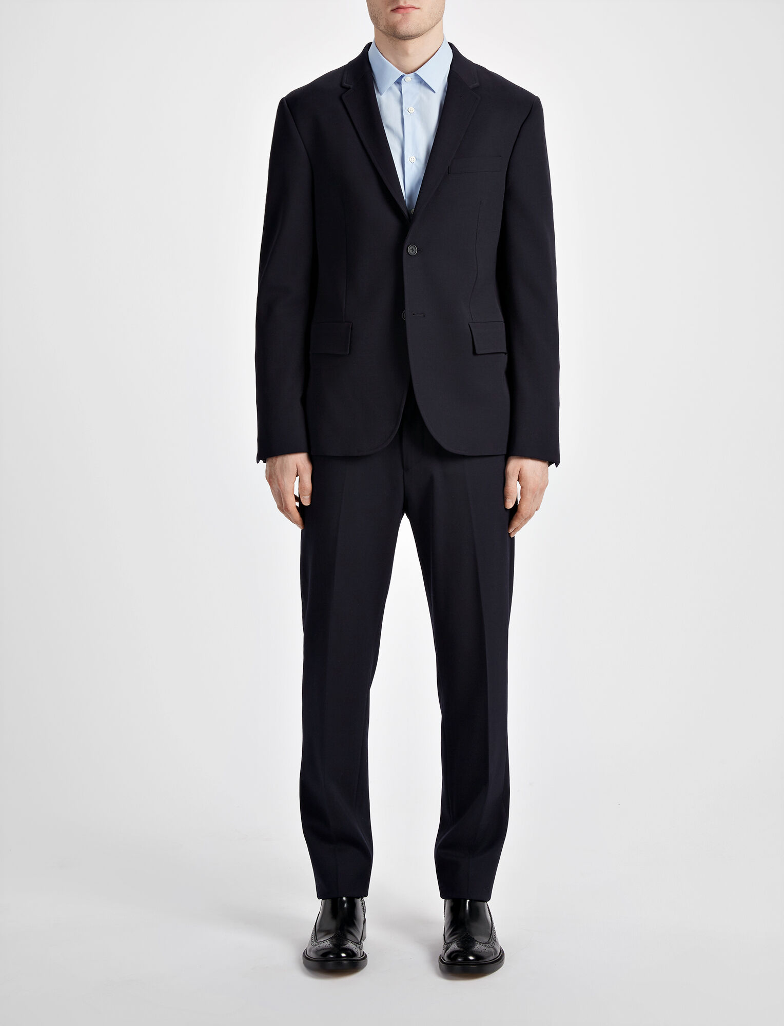 Joseph, Techno Wool Stretch Halifax Suiting Jaket, in NAVY