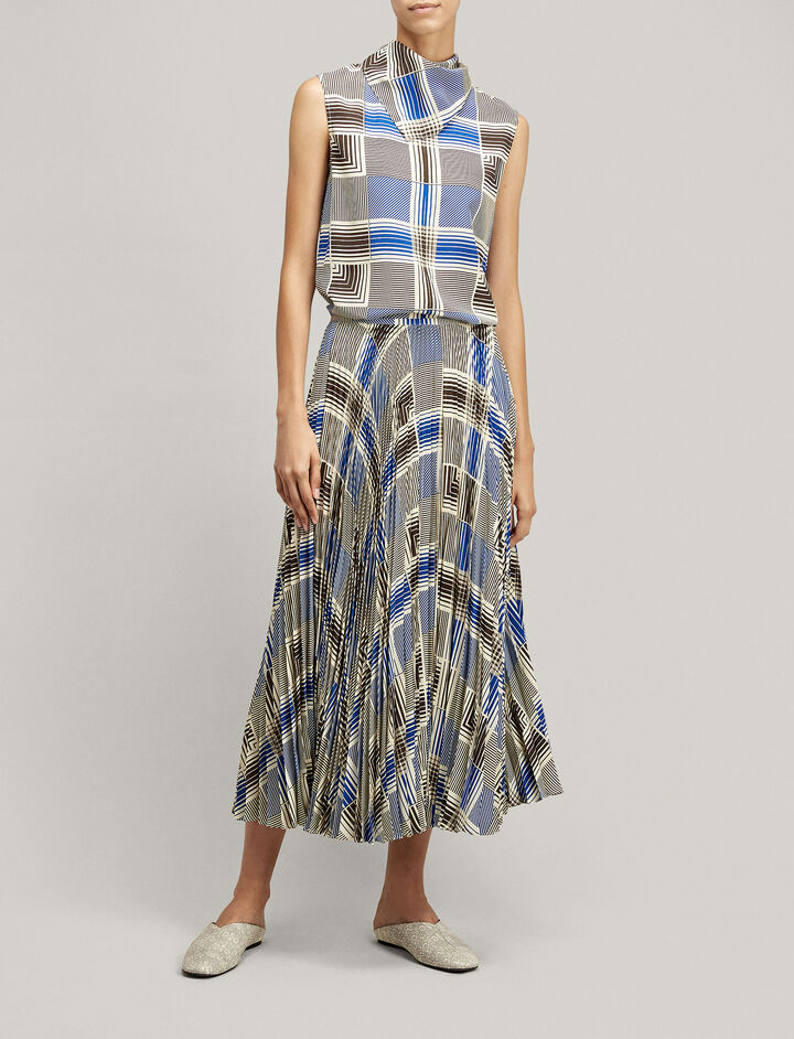 Joseph, Pearce Foulard Check Blouse, in MULTICOLOUR