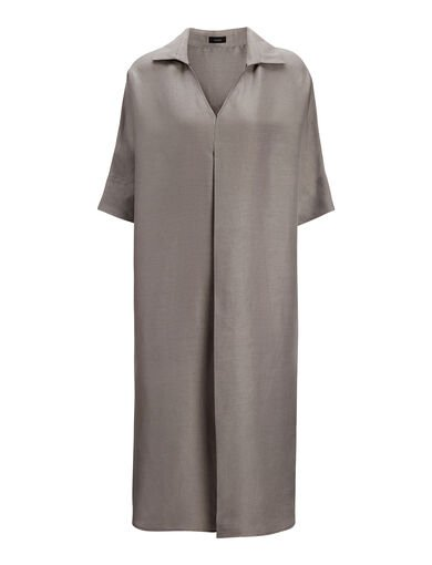 Robe Mill en lin fin, in SILVER, large | on Joseph