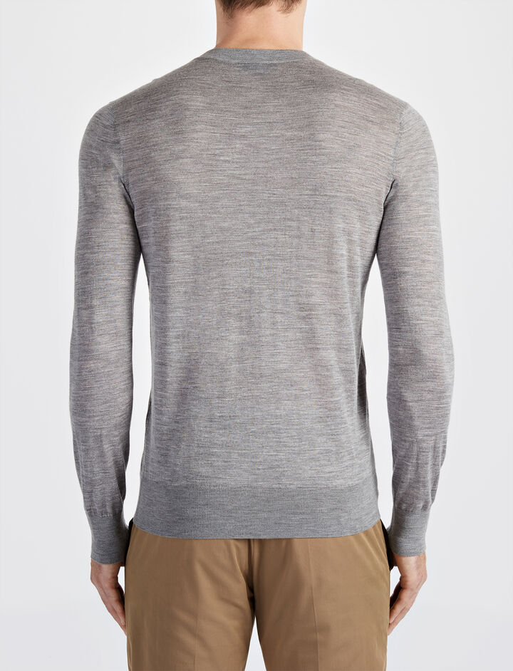Light Merinos Sweater, in GREY CHINE, large | on Joseph